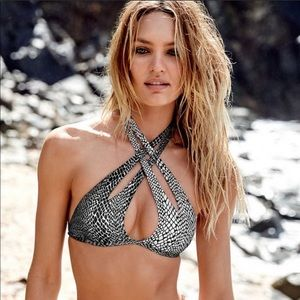 Victoria's Secret snakeskin bikini top